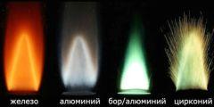 Сравнение горения металлов