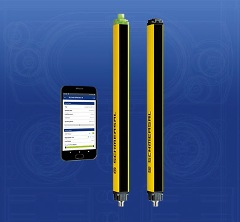 Schmersal Safety light grids with Bluetooth interface