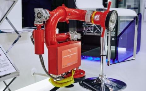 Робот для тушения пожаров