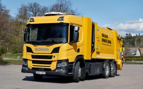 Мусороуборочный автомобиль Scania на водороде